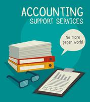 Accounting Support Services Concept vector