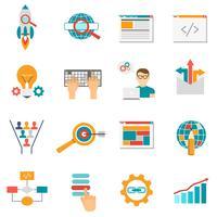 Web pictogrammen plat