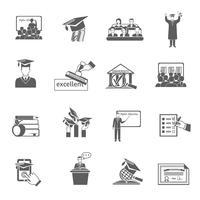 hoger onderwijs pictogram zwart vector