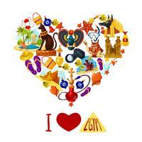 Toeristische Poster van Egypte vector