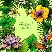 Tropische bladeren Frame