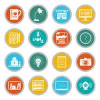 Freelance-iconen platte set vector