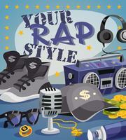 Rap muziekconcept vector