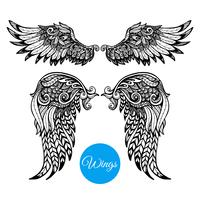 Decoratieve vleugelset vector