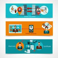 Online-educatie-bannerset vector