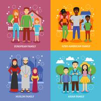 Nationale families pictogrammen instellen vector