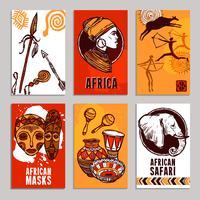 Afrika Poster Set vector