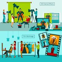 mensen uit de filmwereld vector
