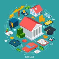 Banklening isometrisch concept vector