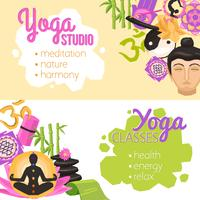 Yoga banners horizontaal vector