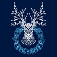 De Kroon van Kerstmis met het Hoofd van Herten
