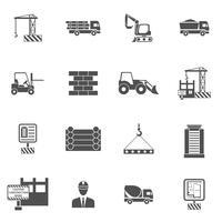 Bouw pictogrammen plat vector