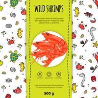 Zeevruchten verpakking ontwerp