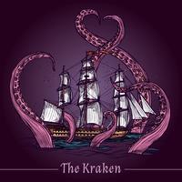 Kraken schets illustratie