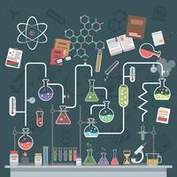 wetenschap concept plat