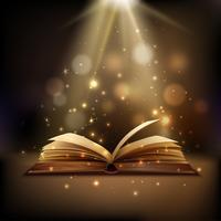 Magische boekachtergrond vector