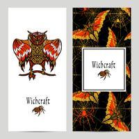 Hekserij Magische Banner Set vector