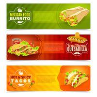 Mexicaans eten banner set vector