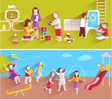 Kinderen in de kleuterschool vector