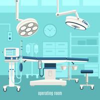 Medische operatiekamer ontwerp poster