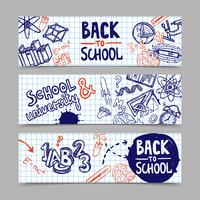 Terug naar school Banners