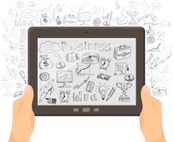 Zakelijke mobiele technologie concept banner vector