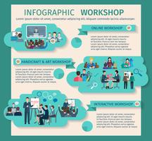 workshop infographics ingesteld vector