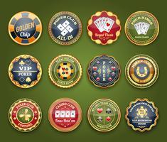 Poker glanzende labelset