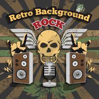 Retro Rock achtergrond vector