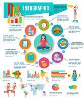 Gezonde keuzes dieet inforafisch rapport vector