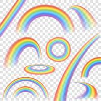 Regenbogen transparante set