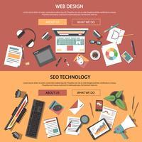 Web horizontale banners vector