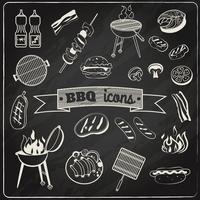 Barbecue-schoolbordenset