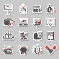 Financiën Sticker Set vector