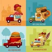 Mobiele voedselbezorging vector