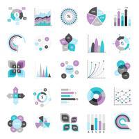 Zakelijke grafieken Set