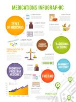 Apotheker Infographics Set vector