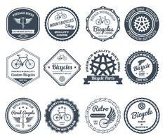 Fietsen Emblemen Black Set vector