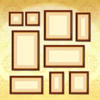 Donkere houten frames