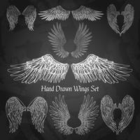 vleugels schoolbord set vector