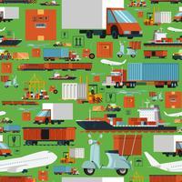 Wereldwijd logistiek naadloos patroon vector