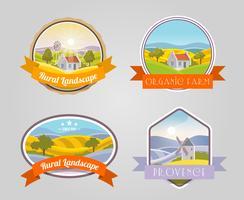 Landelijke landschapsset vector