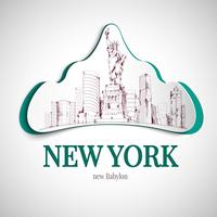 New York City embleem vector