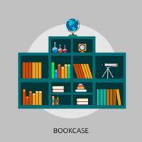 Conceptuele afbeelding ontwerp boekenkast vector