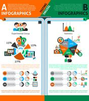 Ab testen Infographics Set vector