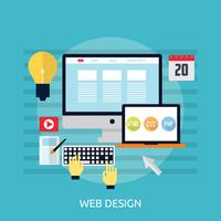 Webdesign Conceptuele afbeelding ontwerp