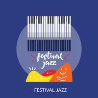 Festival Jazz Conceptuele afbeelding ontwerp vector