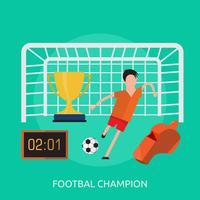 Footbal Champion Conceptueel illustratieontwerp vector