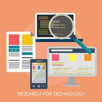 Onderzoek voor technologie Conceptueel illustratieontwerp