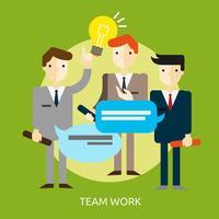 Teamwerk Conceptueel illustratieontwerp